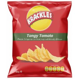 Krackles Potato Crisps Tangy Tomato - Bulkbox Wholesale