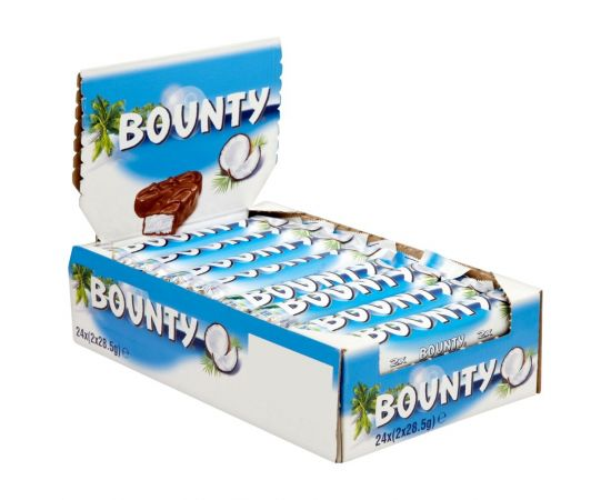 Bounty Chocolate Bar 24x57g - Bulkbox Wholesale