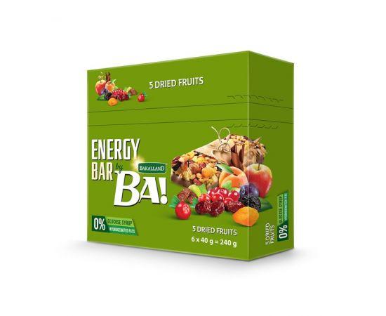 Bakalland Energy Bar 5 Dried Fruits 25x40g - Bulkbox Wholesale