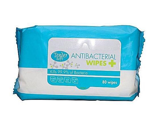 Tender Soft Antibacterial Wipes Family Pack 24x80s - Bulkbox Wholesale