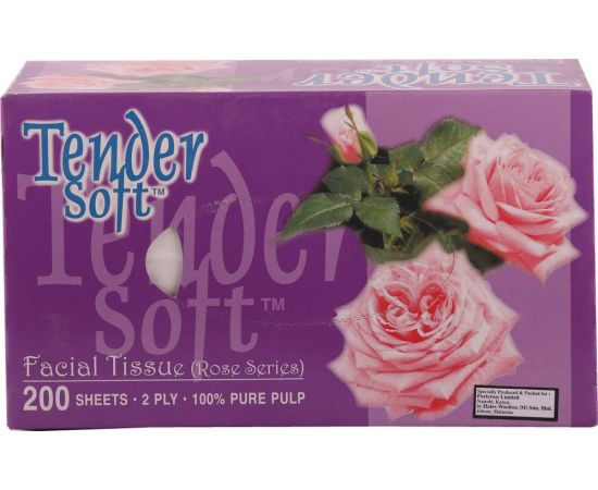 Tender Soft Facial Tissue Box Rose 10x4x200's - Bulkbox Wholesale