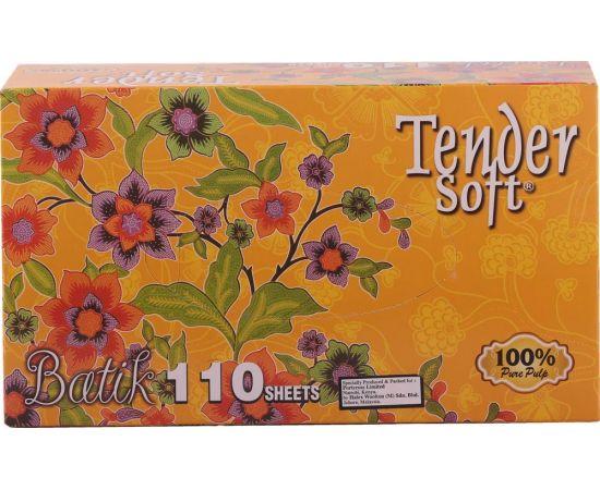 Tender Soft Facial Tissue Box Batik 12x4x110's - Bulkbox Wholesale
