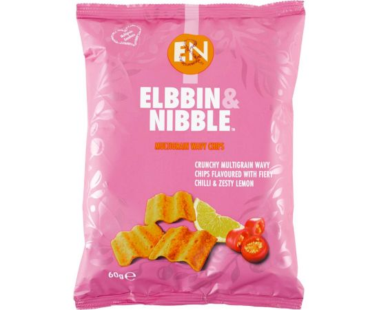 Elbbin & Nibble Multigrain Chilli Lemon Chips - Bulkbox Wholesale
