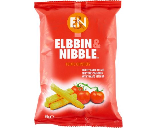 Elbbin & Nibble Tomato Ketchup Chipsticks - Bulkbox Wholesale