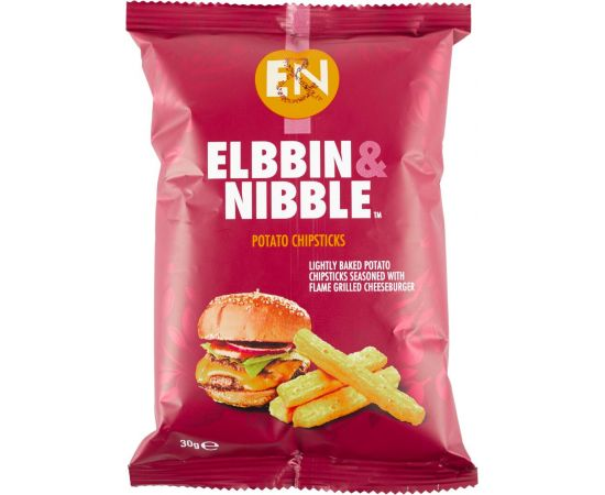 Elbbin & Nibble Flame Grilled Cheese Burger Chipsticks - Bulkbox Wholesale