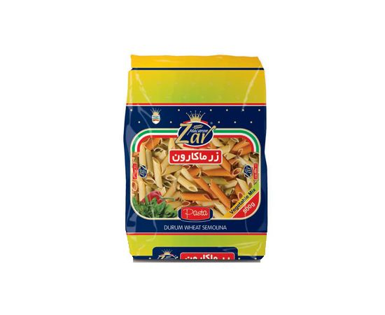 Zar Penne Rigate Mix Veg Pasta 20x500g - Bulkbox Wholesale
