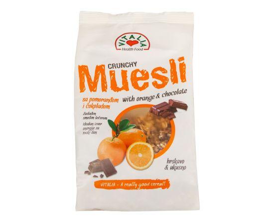 Vitalia Crunchy Muesli Choc & Orange 6x320g - Bulkbox Wholesale