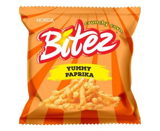 Bitez Yummy Paprika Mini Pack Corn Snacks - Bulkbox Wholesale
