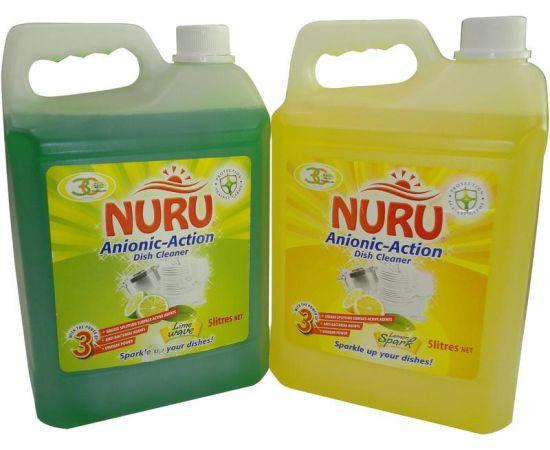 Nuru Dish Washing Liquid Lime Wave 4x5L - Bulkbox Wholesale