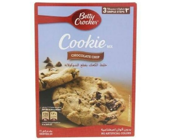 Betty Crocker Chocolate Chip Cookie Mix 6x496g - Bulkbox Wholesale