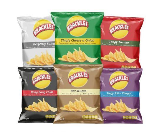Krackles Potato Crisps Assorted - Bulkbox Wholesale