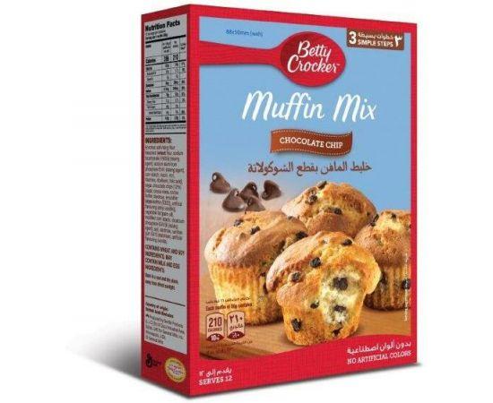 Betty Crocker Chocolate Chip Muffin Mix 6x496g - Bulkbox Wholesale