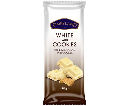 Dairyland White with Cookies Chocolate   - Bulkbox Wholesale