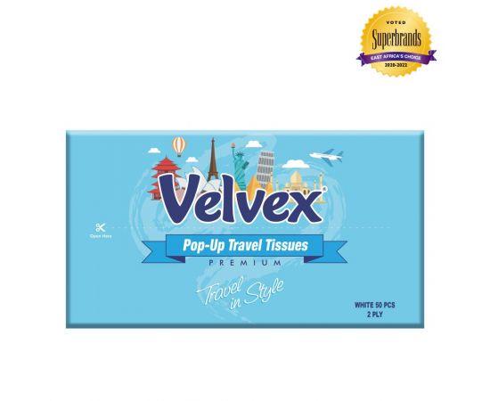 Velvex Standard Travel Tissue 50 Sheets - 60Pkts - Bulkbox Wholesale