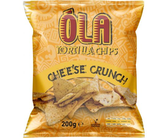 Ola Tortilla Chips Cheese Crunch - Bulkbox Wholesale