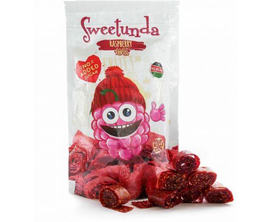 Sweetunda Raspberry Rolls Pouch 200g - Bulkbox Wholesale