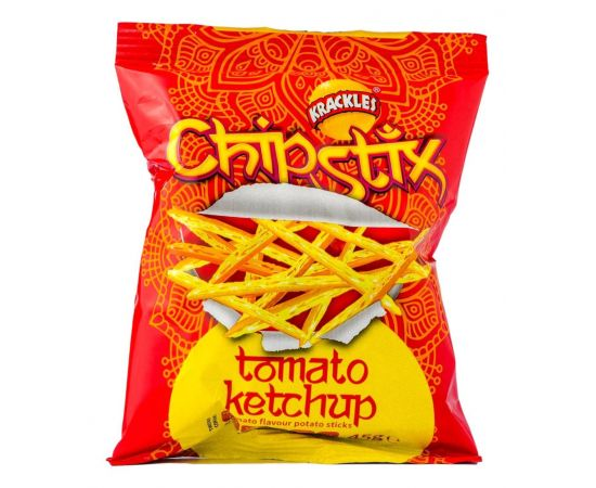 Chip Stix Potato Sticks Tomato Ketchup 48x45g - Bulkbox Wholesale