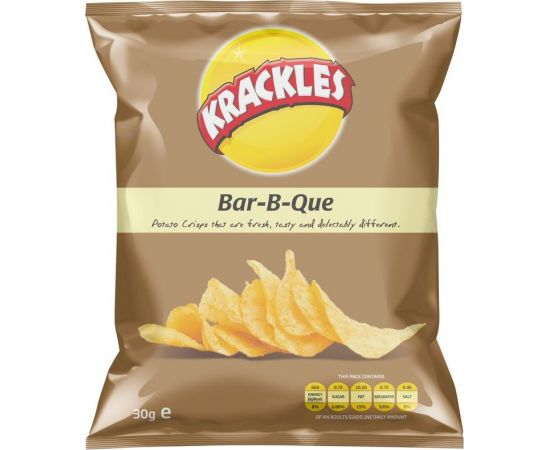 Krackles Potato Crisps Bar-B-Que - Bulkbox Wholesale